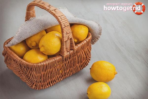 Хранение лимонов