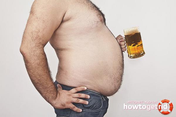 Как мужчине убрать пивной живот