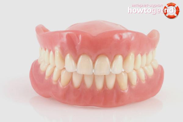 Как отбелить зубные протезы в домашних условиях