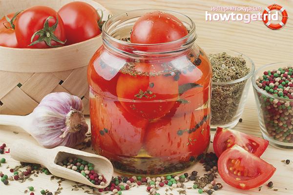 Классический рецепт консервированных помидор