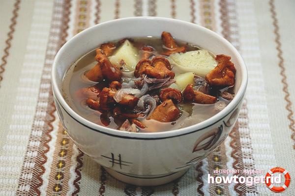 Наваристый грибной суп с лисичками