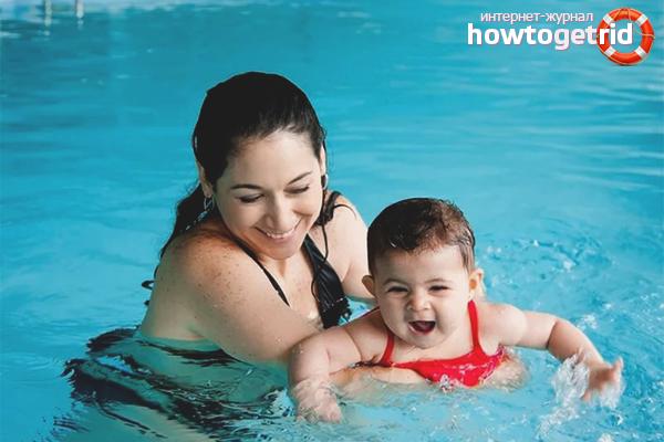 Учим плавать ребенка