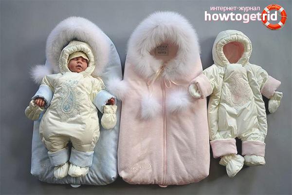 Верхний слой одежды для выписки зимой