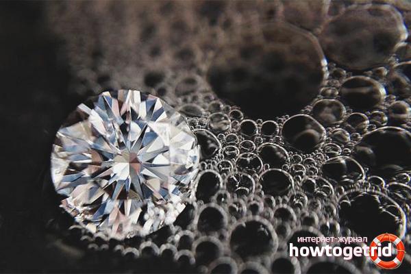 Чем нельзя чистить бриллианты