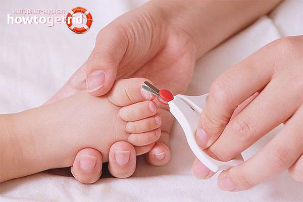 Как подстричь ногти на ногах ребенку
