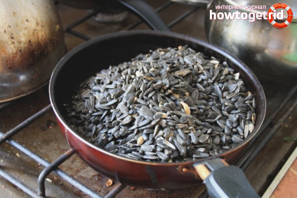Как пожарить семечки на сковороде