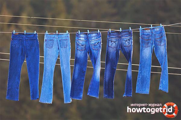 Как сушить джинсы, чтобы они уменьшились