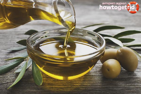 Внешний вид оливкового масла