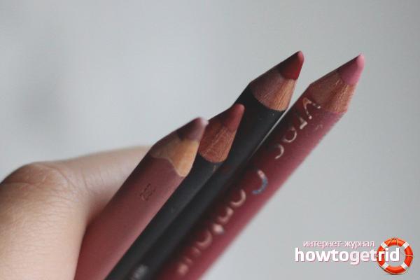 Как подобрать цвет контурного карандаша