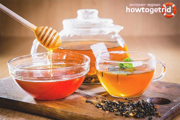 Как правильно пить чай с мёдом