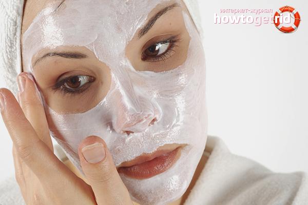 Маски от воспаления и уплотнений на лице