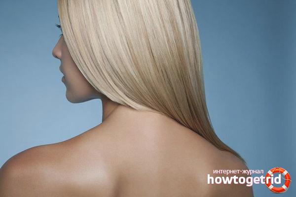 Окрашивание волос в белый цвет