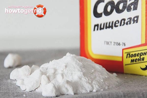 Пищевая сода от запаха гари в микроволновке