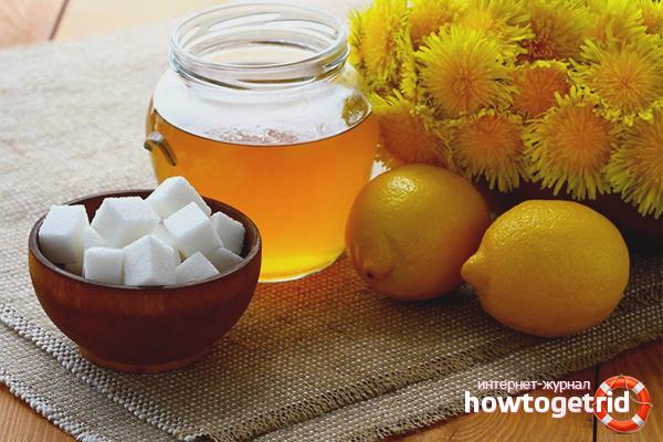 Варенье из одуванчиков и лимона