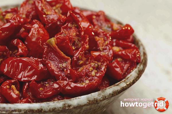 Вяленые томаты в микроволновке
