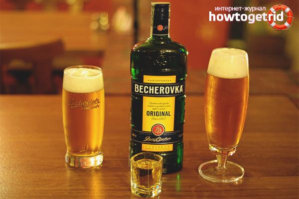 Как пить Бехеровку с пивом