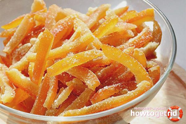 Как сделать цукаты из апельсиновых корок