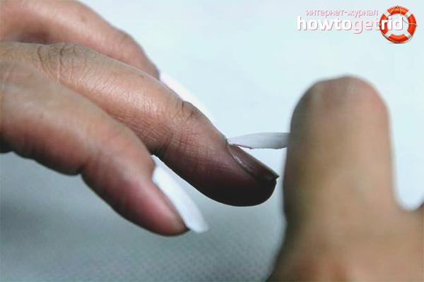 Как снять накладные ногти на клею
