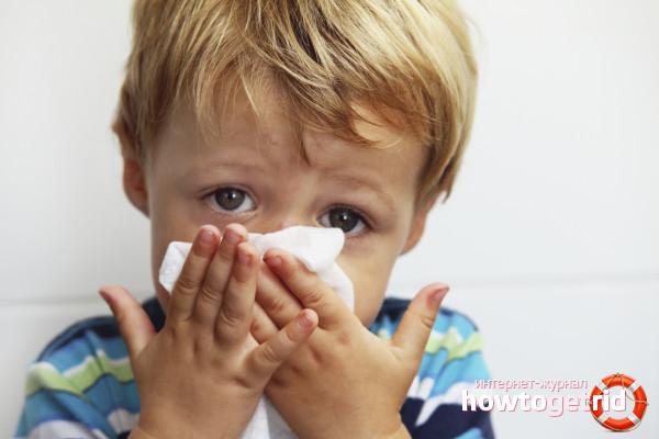 Как снять заложенность носа у ребенка