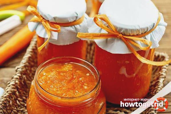 Морковное варенье с яблоком