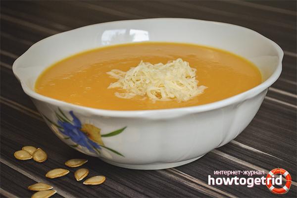 Суп-пюре из тыквы и сыра