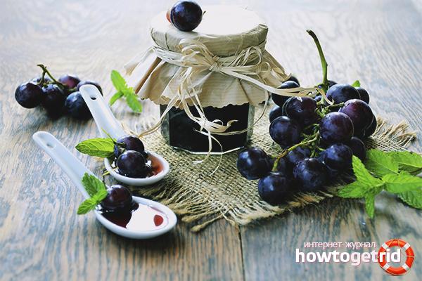 Виноградное варенье по простому рецепту