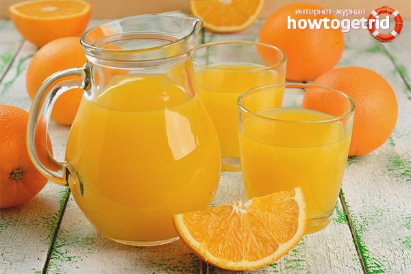 Вред апельсинового сока свежей выжимки
