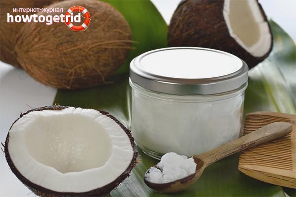 Домашние маски из масла кокоса