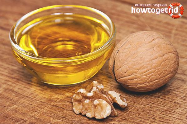Использование чистого грецкого масла для волос