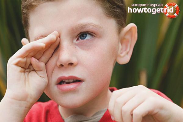 Как вытащить соринку из глаза ребенка