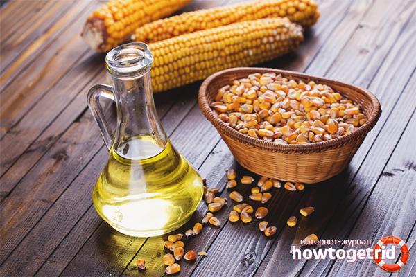 Кукурузное масло для волос