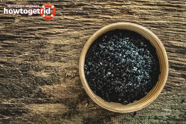 Лечение раствором чёрной соли