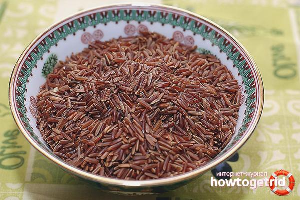 Польза красного риса при похудении