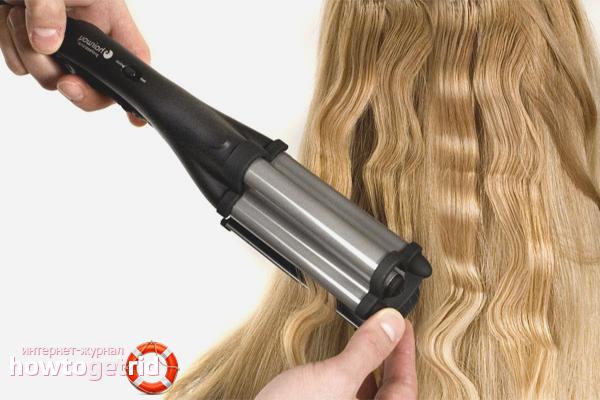 Как накрутить волосы на плойку гофре