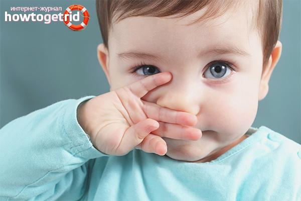 Как обрабатывать нос ребенка при зеленых соплях
