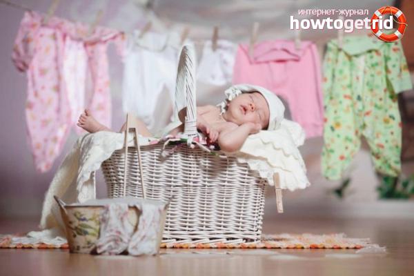 Как стирать вещи для новорожденного