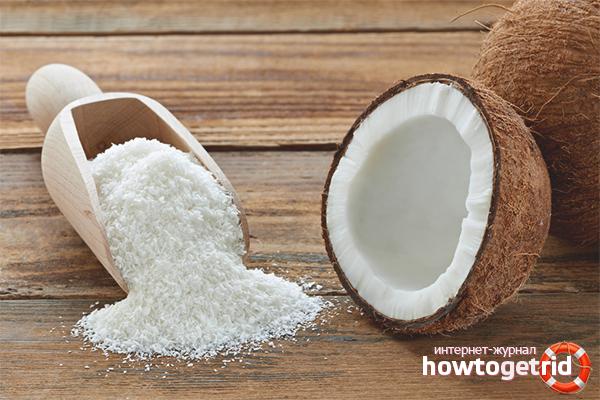 Польза и вред кокосовой стружки