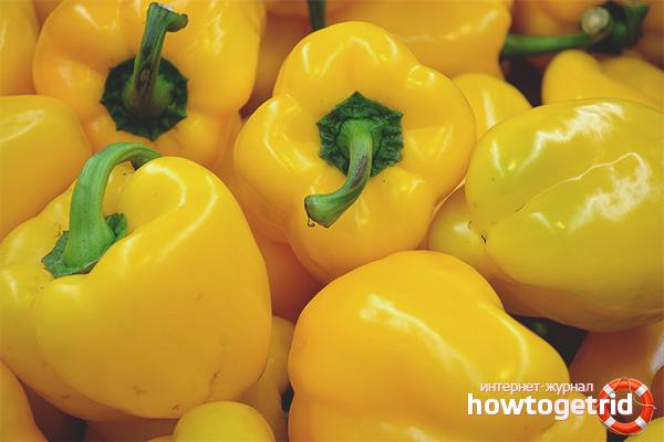 Польза жёлтого болгарского перца