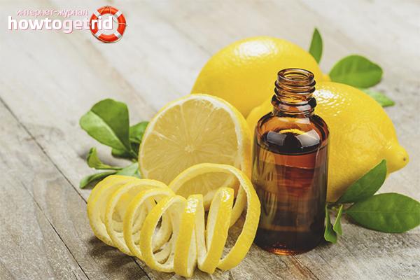 Правила использования масла лимона