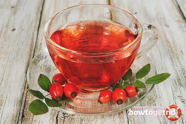 Чай из сушёного шиповника для поднятия иммунитета