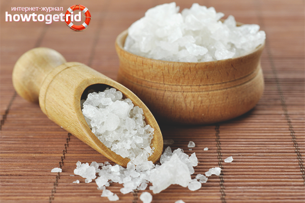 Домашние средства для волос с солью