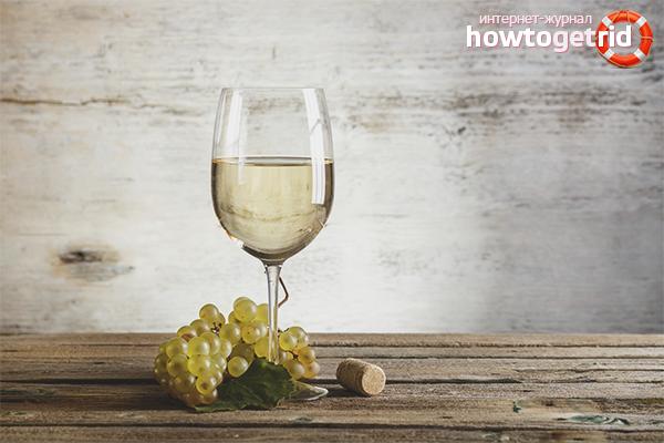 Польза и вред белого вина