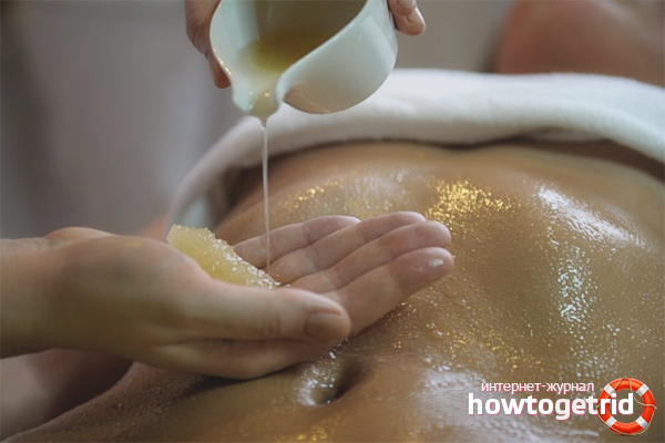 Техника проведения медового массажа живота