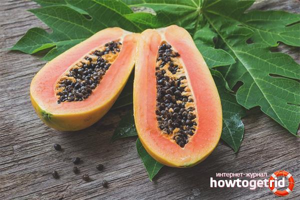 Польза семян папайи