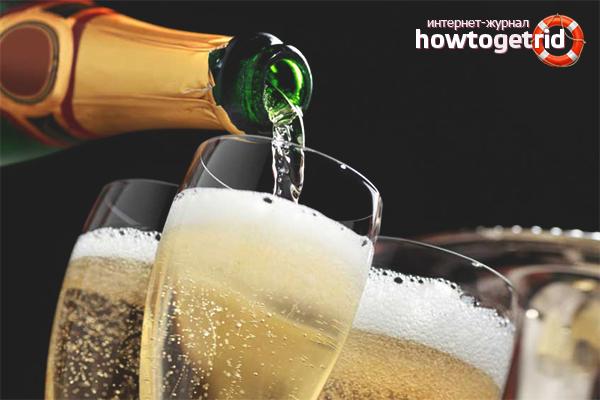 Правила розлива шампанского