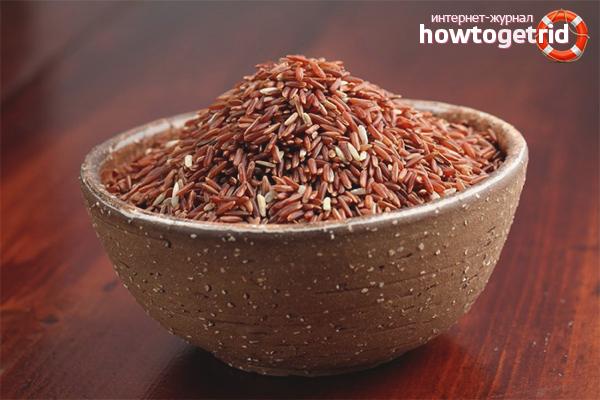 Красный рис для плова