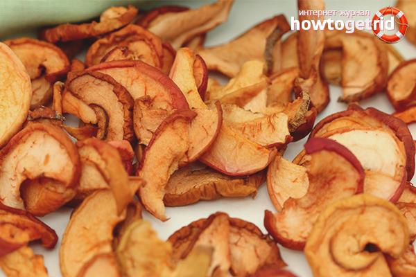 Польза сушек из яблок