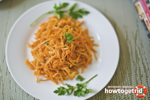 Салат из тертой моркови