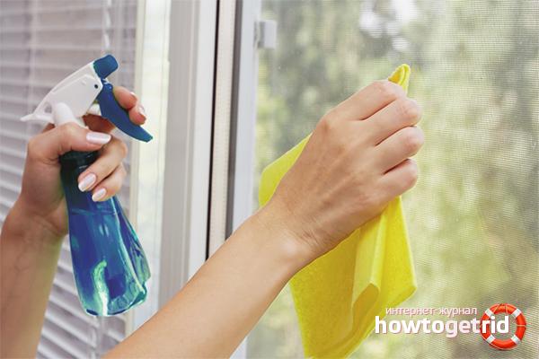 Способы мытья окон специальными средствами