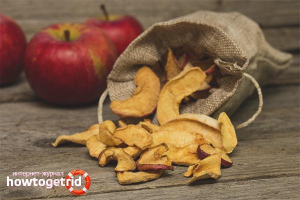 Сушёные яблоки при беременности и лактации